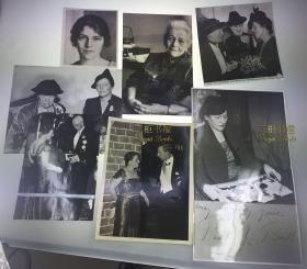 【赛珍珠纪念馆】【原版照片】赛珍珠,1938年,斯德哥尔摩诺贝尔颁奖典礼等,一组7张,大幅照片/Pearl S. Buck