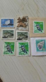 A99邮票8枚合售(日本花鸟邮票4张)(中国人民邮票2张)(其他邮票2张)
