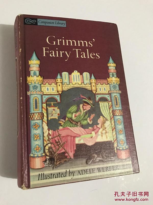1963年插图版英文儿童经典 Andersens fairy tales / Grimms fairy tales 《安徒生童话 格林童话》(一书两读,其乐无穷)