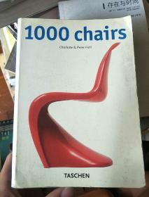 英文原版---1000 Chairs(铜板纸全彩印一厚册)