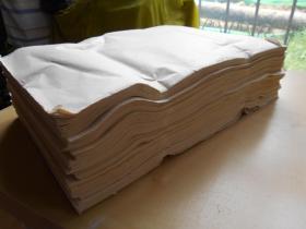 【元书纸800张】纸张薄,一面光滑,一面毛糙。尺寸:39.8×28厘米