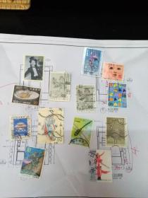 特价 一组精美日本邮票 13张 只需2.6元