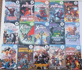DK readers漫威系列儿童百科 Marvel 蜘蛛侠X战警等15本110元包邮