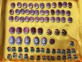 解放初期劳卫制证章奖章一组76枚,几个带原包装