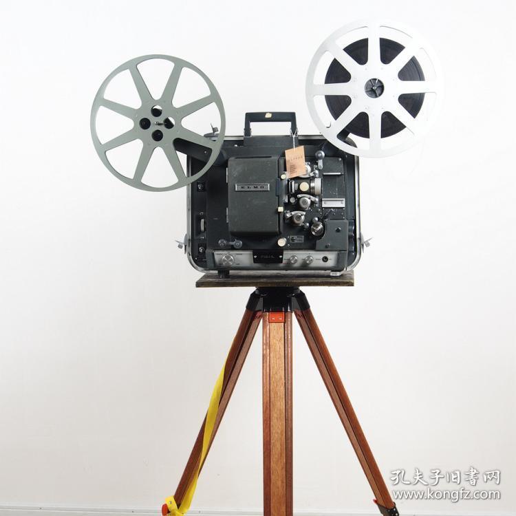 怀旧复古投影机老式电影机日本 elmo f16hl 16mm胶片放映机爱尔莫图片