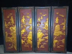 漆器屏风,长1米22,宽42厘米,代理转图可以加价,运费自理。
