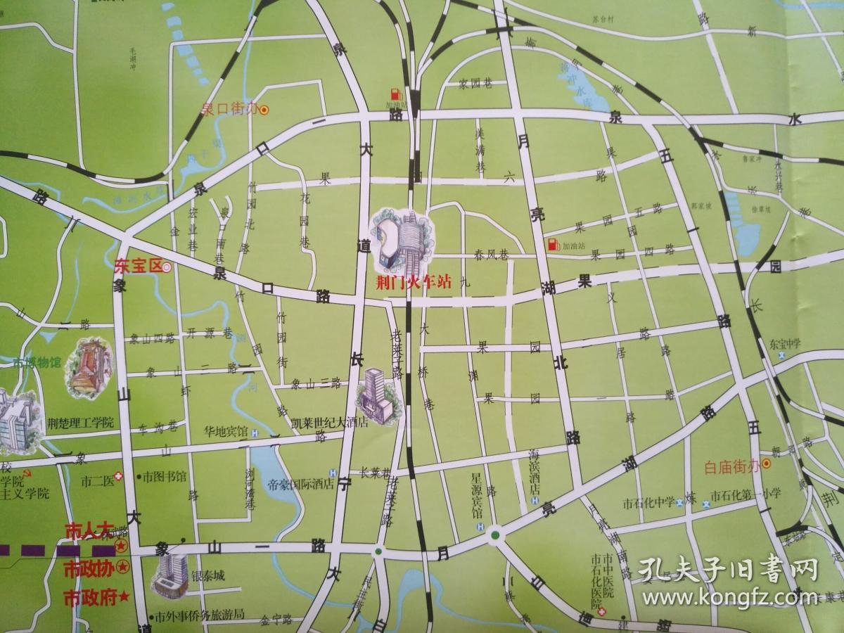 荆门旅游地图 2017年 荆门地图 荆门市地图 荆门旅游图 荆门城区图
