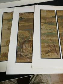 平安时代教王护国寺藏山水屏风图3张