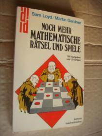 NOCH MEHR MATHEMATISCHE RATSEL UND SPIELE:166 Aufgaben und Losungen 有趣的数学  德文原版插图丰富,