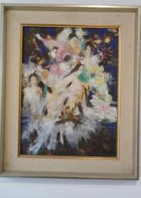 2003年获中国岩彩画展铜奖, 西安美院副教授 夏坚贞 代表作《媛嬛》画册收录