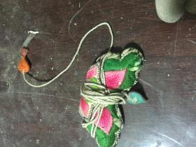 民国绣品  蝴蝶型线包