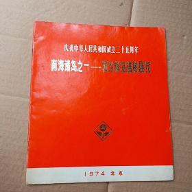 庆祝中华人民共和国成立二十五周年 南海诸岛之一——西沙群岛摄影展览