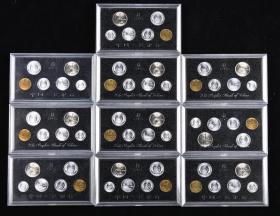 1991年中国硬币六枚一套,共60枚十套(带盒)