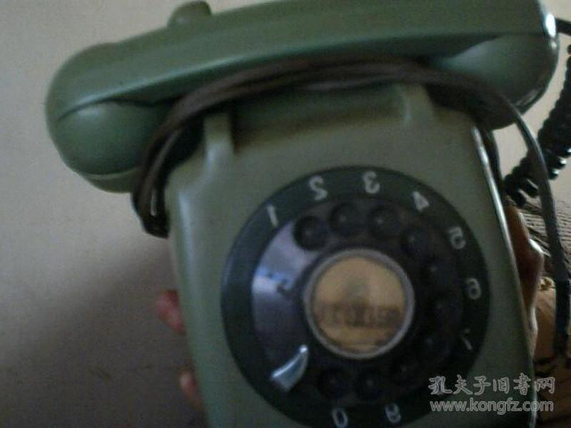 老式拨盘电话机(淡绿色完好可使用)