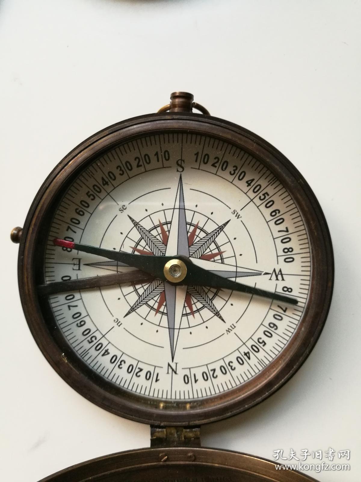 指南针(欧式新古典做旧铜罗盘饰品)