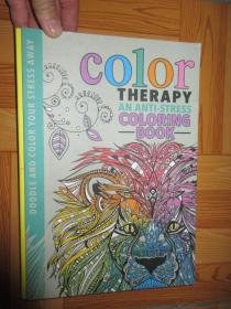 Color Therapy: An Anti-Stress Coloring Book   (詳見圖),硬精裝