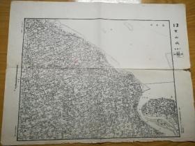 1948年华东军区司令部―江苏宝山城地图(少见)