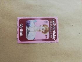 外国邮票 基里巴斯邮票人物 1枚(乙11-6)