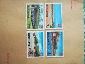 外国邮票 基里巴斯邮票建筑 4枚(乙11-6)
