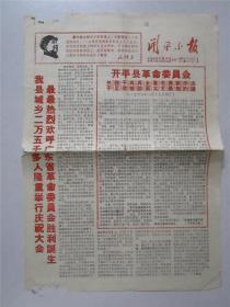 文革广东地方小报: 开平小报(第1期)1968年2月23日