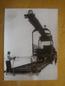 老照片 1958年  中苏两国兰州-乌鲁木齐-阿克斗卡 友谊铁路通车