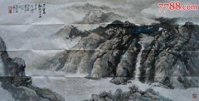 中国美协会员、江苏理工学院刘海粟艺术学院院长汤洪泉教授山水画
