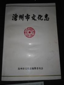 沧州市文化志