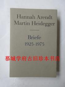 全新1998年初版《阿伦特与海德格尔通信书简集1925/1975》 Hannah Arendt Martin Heidegger Briefe 1925-1975 und andere Zeugnisse