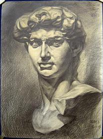 《大卫》石膏像写生(4开)