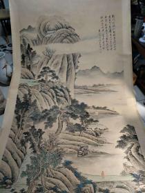 名家手绘山水画,高3.25米,宽1.4米
