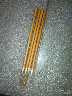 日本老毛笔(书画用笔),《并,细笔》4支。未使用,锋颖完整。(高端货,纯毛料,兼毫,弹性足。完全可以书画两用。