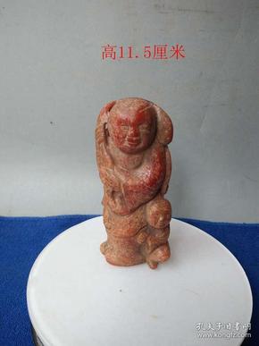 清代传世雕工精致的老琥珀人物摆件