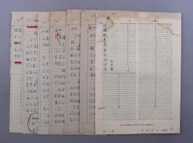 著名音乐家、中央音乐学院教授兼 易开基 1961年手稿《洪腾、鲍蕙荞音乐会听后》一份六页 (出版于《人民音乐》1961)HXTX103716