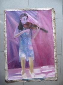 油画:93厘米63厘米