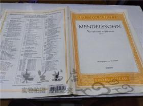 原版英法德意等外文书 EDITION SCHOTT MENDELSSOHN Variations serieuses opus 54 Herausgegeben von Emil Sauer 大16开平装