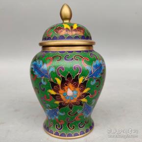 景泰蓝将军罐摆件尺寸如图,重1310克