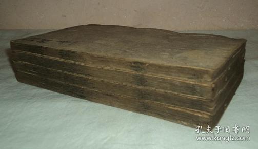 清代木刻、、洪武正韵、【龙光诗经】、八卷四册、品好完整齐全。