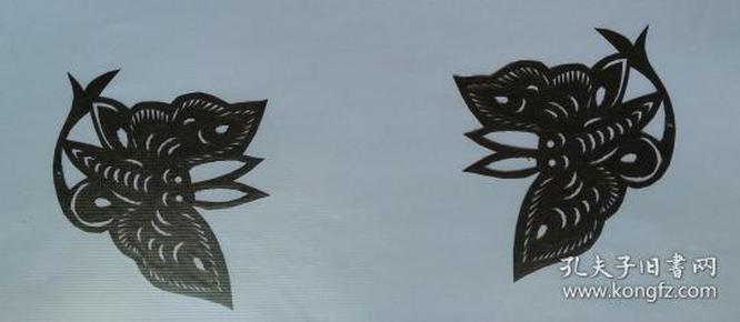 凤翔传统民间剪纸--窗花5(1对)