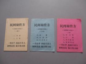 民间秘传方【实用便方精选】全三册