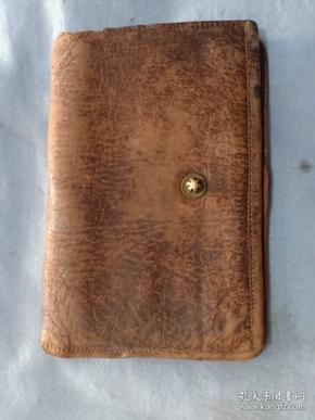 (箱11)民国 皮制钱包一件,有磨损,尺寸12*8cm