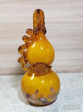 精品手工琉璃招财葫芦(多平台同售,请先咨询情况,避免已售。)