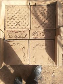 古砖老砖雕一套宋砖