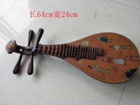 乡下收的清代老漆器人物琵琶