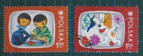 波兰邮票-----儿童画(盖销票)