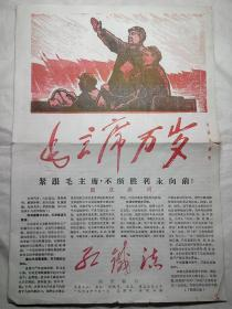 国庆特刊地方小报《红铁流》1967年10月1日毛林像(少见)