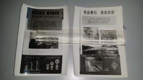 1964年,宣城溪口公社高峰大队《向荒山要茶,像河滩要粮》宣传画片老照片。一套四张,无多存量