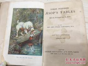 THREE HUNDRED AESOPS FABLES 三百年伊索寓言 内含插图