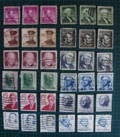 美国邮票----人物(信销票)