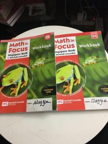 Math in Focus:Singapore Math by Marshall Cavendish(Workbook) 2A 2B 两卷(书内有铅笔笔记,2B书后手工被撕)