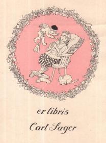 Mathilde Ade藏书票原作18